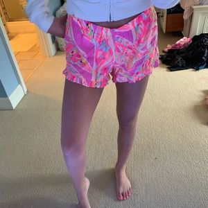 Lilly Pulitzer ruffle shorts